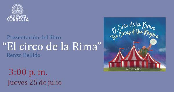 """Presentación del poemario: """"El circo de la rima"""" en la 24° Feria Internacional del Libro de Lima"""