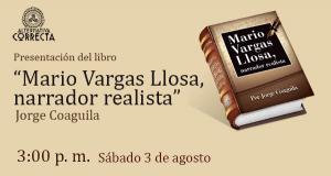 """Presentación del libro """"Mario Vargas Llosa, narrador realista"""" en la 24° Feria Internacional del Libro de Lima"""