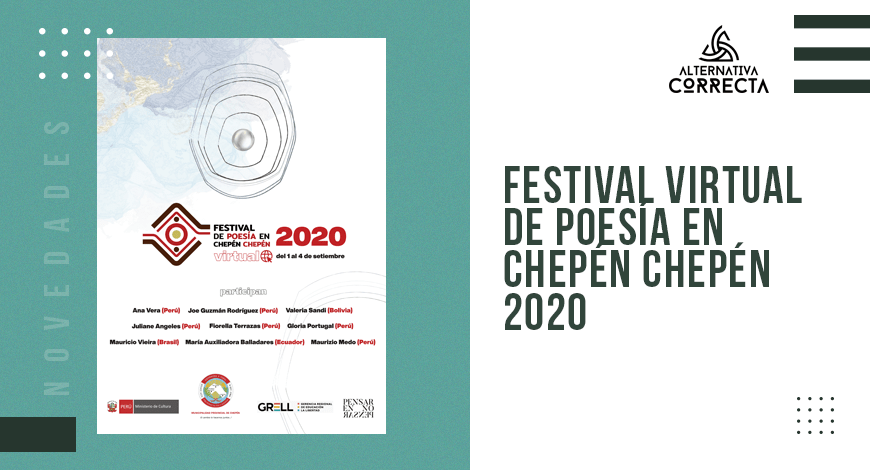 El Festival de poesía en Chepén Chepén 2020 se realizará de forma virtual