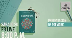 """Presentación de poemario """"HORARIUM"""", de Vanessa Deacosta"""